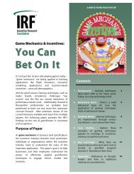 You Can Bet On It - The Incentive Research Foundation
