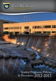 Student Programs, Policies & Procedures 2012-2013 - Texas ...