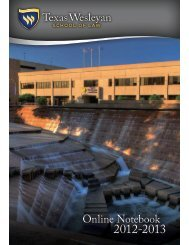 2012-2013 New Student Notebook - Texas Wesleyan School of Law ...