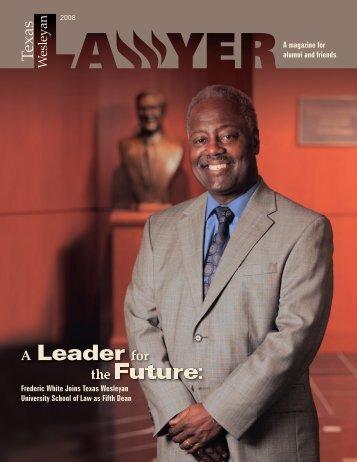 Fall 2008 - Texas Wesleyan School of Law - Texas Wesleyan ...
