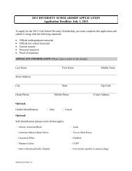 2013 DIVERSITY SCHOLARSHIP APPLICATION ... - E-Legal News