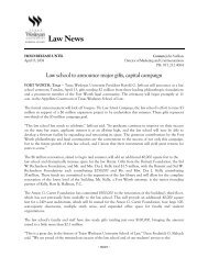 Law school to announce major gifts, capital campaign - Texas ...