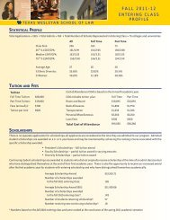 FALL 2011-12 - Texas Wesleyan School of Law