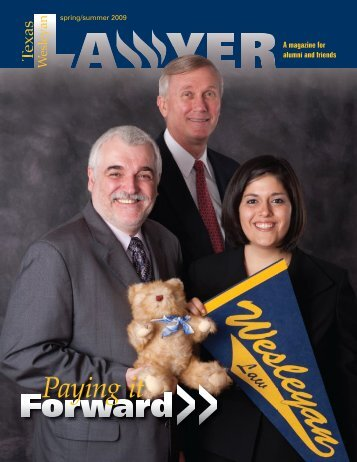 Spring 2009 - Texas Wesleyan School of Law - Texas Wesleyan ...