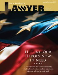 Helping Our Heroes Now in Need - Texas Wesleyan School of Law ...