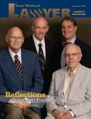 Reflections - Texas Wesleyan School of Law - Texas Wesleyan ...