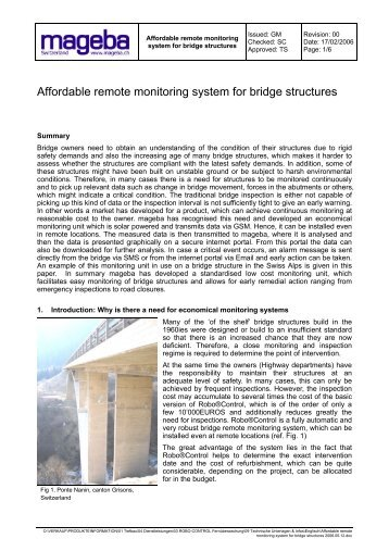 Affordable remote monitoring system for bridge structures