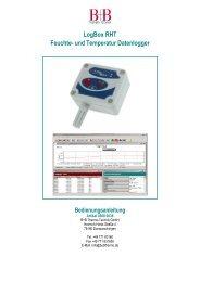 LogBox RHT Feuchte- und Temperatur ... - Temperatur-Shop