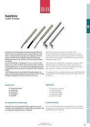 Kabelfühler Cable Probes - Temperatur-Shop