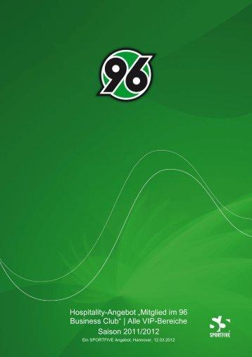 Alle VIP-Bereiche Saison 2011/2012 - Hannover 96