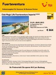 Club Magic Life Fuerteventura Imperial **** 21.01 ... - Hannover 96