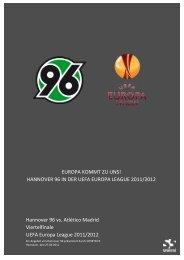 Hannover 96 vs. Atlético Madrid Viertelfinale UEFA Europa League ...