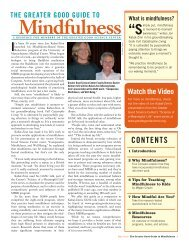 The Greater Good Guide to Mindfulness - Faculty of Education ...