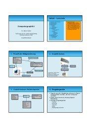 Computergraphik I Inhalt – Lernziele 4. Eingabegeräte