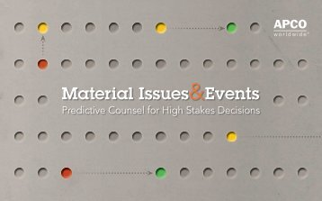 Download more information about material ... - APCO Worldwide