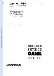 [in2p3-00383985, v1] NUCLEAR PHYSICS at GANIL ... - HAL - IN2P3
