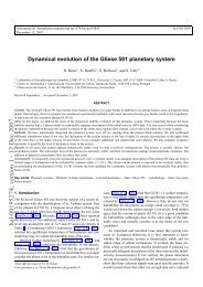 Dynamical evolution of the Gliese 581 planetary system