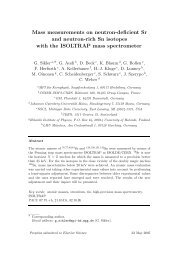 Mass measurements on neutron-deficient Sr and ... - HAL - IN2P3