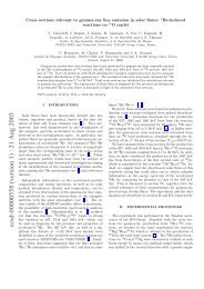Cross sections relevant to gamma-ray line emission in solar flares ...
