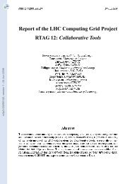 Report of the LHC Computing Grid Project. RTAG 12: Collaborative ...