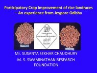 Participatory Crop Improvement of rice landraces – An experience ...