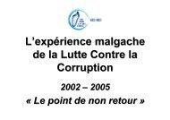 La Stratégie Nationale de Lutte Contre la Corruption