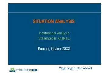 2. Situation analysis stakeholder - Are you looking for one of those ...