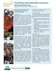 Facilitating multi-stakeholder processes and ... - Wageningen UR