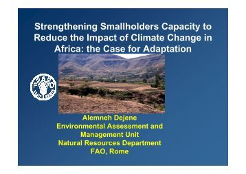 the Case for Adaptation