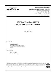 income and assets as impact indicators - Are you looking for one of ...