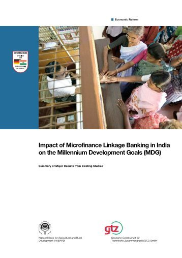 Impact of Microfinance Linkage Banking in India on the Millennium ...