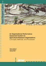 An Organizational Performance Assessment System for Agricultural ...