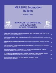 MEASURE Evaluation Bulletin - Are you looking for one of those ...