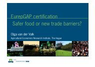 EurepGAP certification Safer food or new trade ... - Wageningen UR