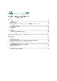 CAPES - Wageningen UR call