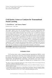 Civil Society Actors as Catalysts for Transnational Social Learning