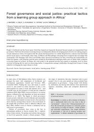 Forest governance and social justice - Are you looking for one of ...