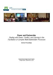 Dealing with Power, Conflict, and Learning in the - Are you looking ...