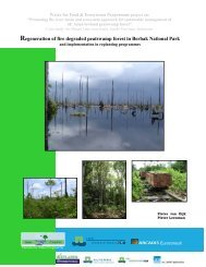 Regeneration of fire degraded peatswamp forest in Berbak National ...