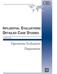 Influential Evaluations: Detailed Case Studies