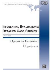 Influential Evaluations: Detailed Case Studies