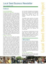 Local S eed B usiness P roject - Are you looking for one of those ...