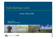 Kolb learning cycle - Wageningen UR