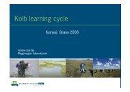 Kolb learning cycle - Wageningen UR