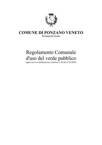 Regolamento Comunale d'uso del verde pubblico - Comune di ...