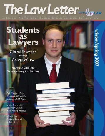 Law Letter - Winter / Spring 2007 - Georgia State University College ...