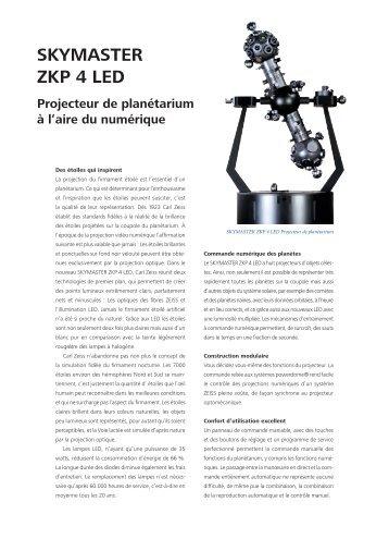 SKYMASTER ZKP 4 LED - Carl Zeiss Planetariums