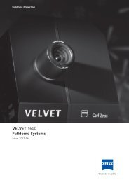 VELVET 1600 brochure - Carl Zeiss Planetariums