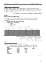 cvičení Fyzikální vlastnosti potravin zadání řešených příkladů 1/7 ...