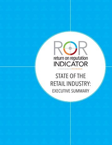 STATE OF THE RETAIL INDUSTRY: - APCO Worldwide